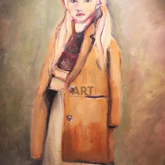 Girl in Camel Coat