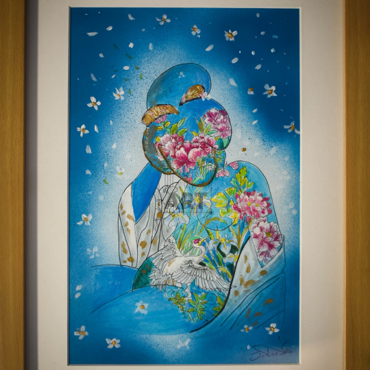 Geisha (Blue)