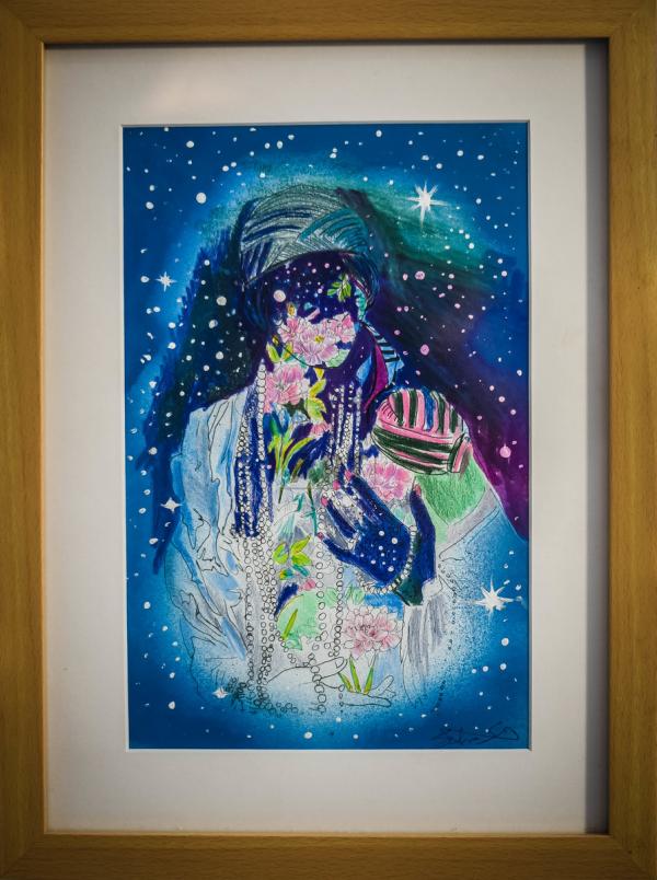 Woman Shining Bright (Blue)
